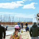 Castillo acompañada del presidente de la DPOSS recorrió la obra de la planta de tratamientos de líquidos cloacales de margen sur en Río Grande